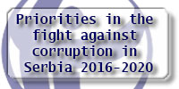 Priorities in the fight against corruption in Serbia 2016 2020a